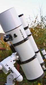 SN10 - der 10-Zoll Schmidt-Newton Astrograph mit 4-Zoll Leitrohr an der Sternwarte Huchenfeld