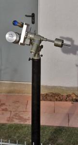 Außensäule mit kleinem Teleskop an der Sternwarte Huchenfeld