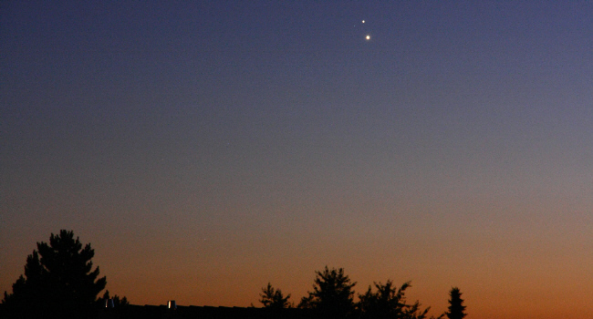Jupiter Venus Planeten-Konstellation