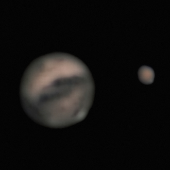 Mars verabschiedet sich von der Erde
