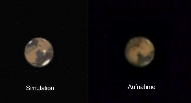 Mars in Opositionsnähe