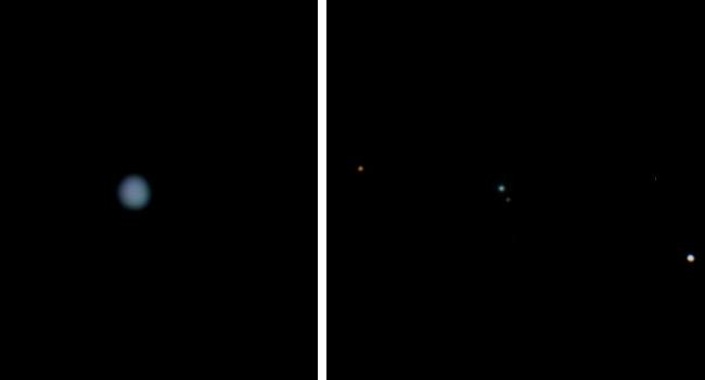 Neptun und sein Mond Triton