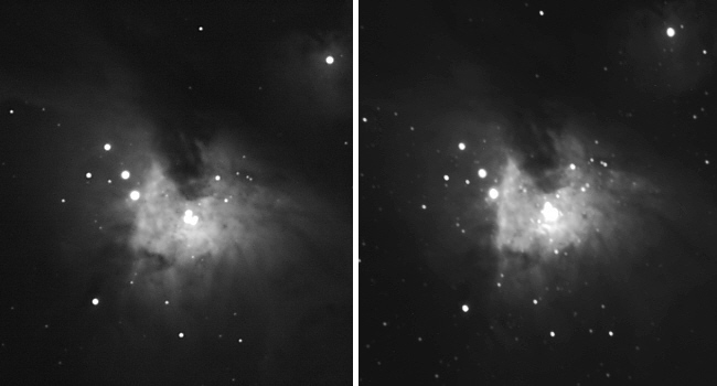 Orionnebel im Infraroten  Licht