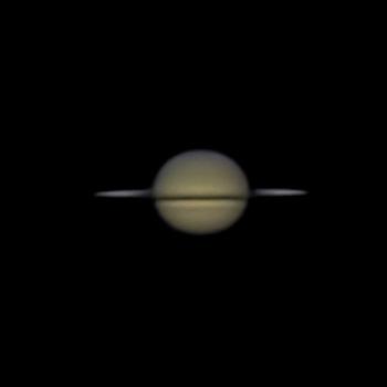 Saturn in Kantenstellung
