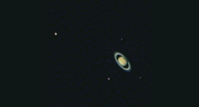 Saturn mit Monden
