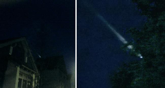 Raketenabsturz über Deutschland