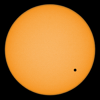 Venusdurchgang vor der Sonne