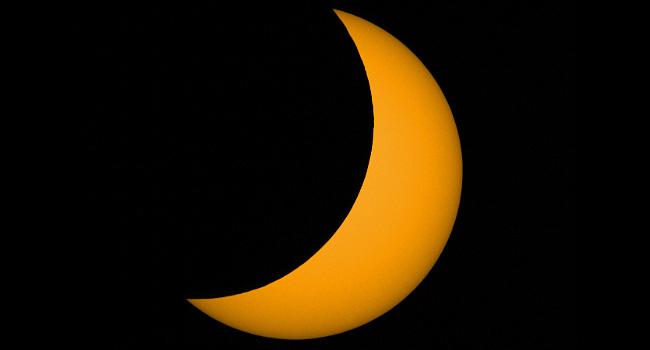 Partielle Sonnenfinsternis beobachtet