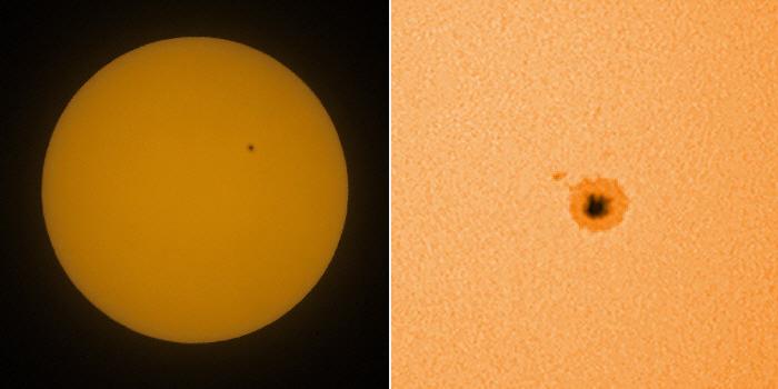 Sonne mit größerem Einzelfleck
