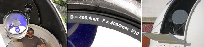 Detailbilder des Hauptteleskops ACF16