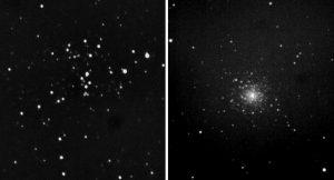 Tief im Süden am Frühlingshimmel: Messier 93 und 79.