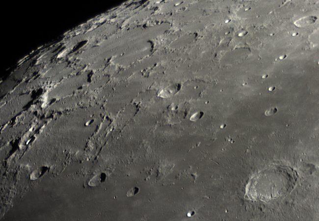 Blick auf den Mondnordpol