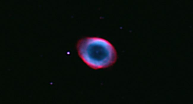Testaufnahme des Ringnebels M 57