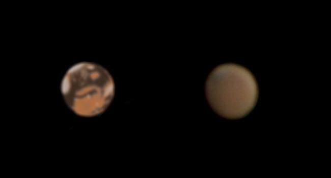 Mars nähert sich Opposition