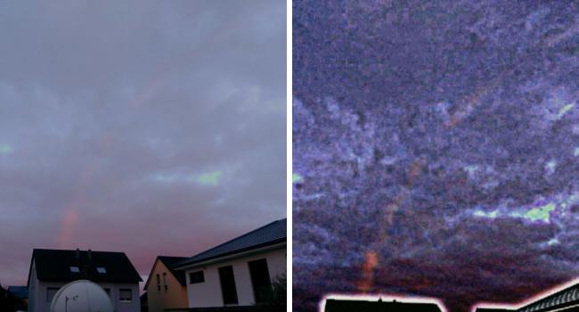 Morgenregenbogen über der Sternwarte