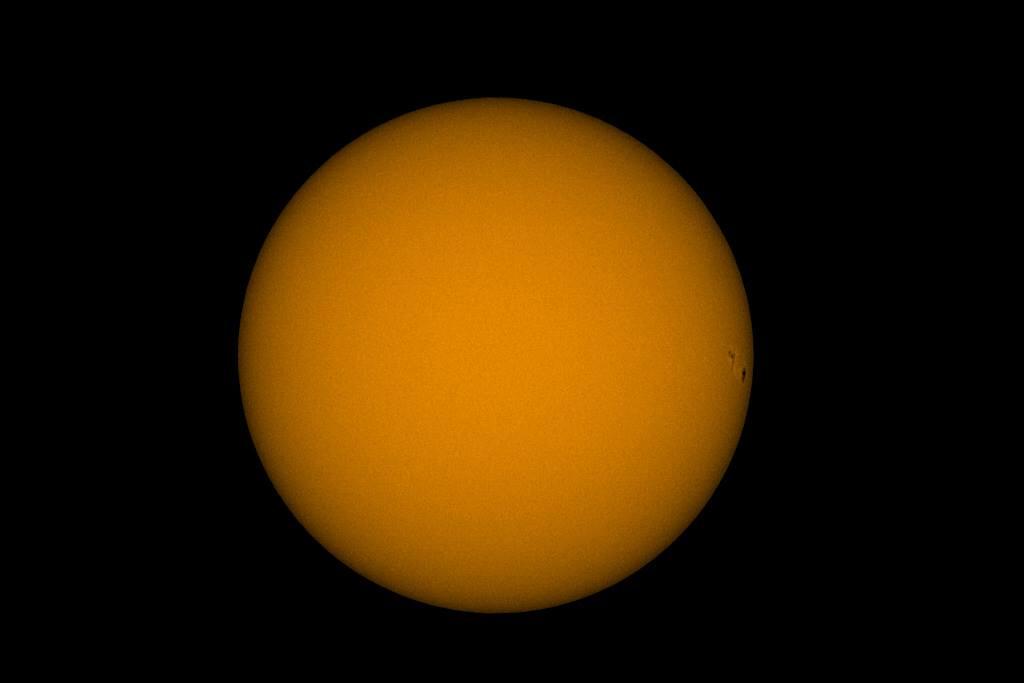Ein Sonnenfleck nahe dem Zyklusminimum