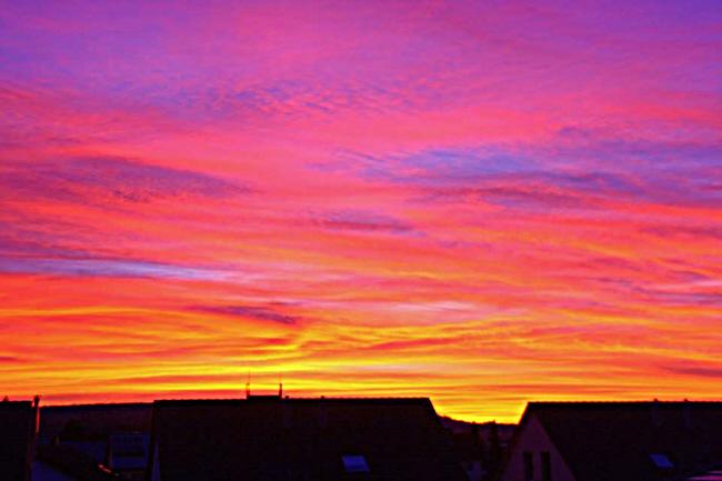 Sonnenuntergang über der Sternwarte