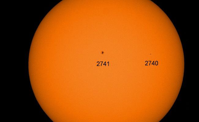 Sonnenfleck EX-2738 wieder sichtbar