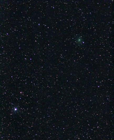 Komet Wirtanen am Abendhimmel