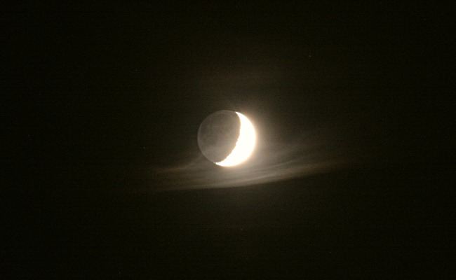 Mondsichel am Abendhimmel (2)