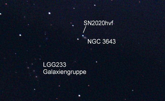 Supernova 2020hvf in NGC 3643