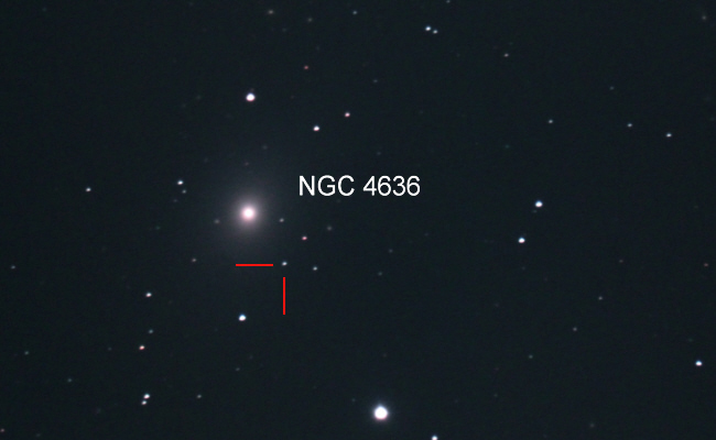 Supernova 2020ue in NGC 4636