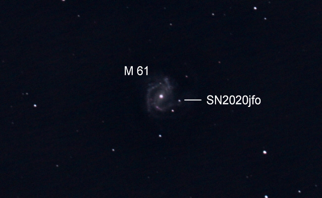 Supernova SN2020jfo in Messier 61