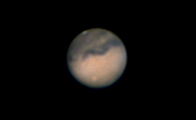 Mars mit Wolkenphänomen